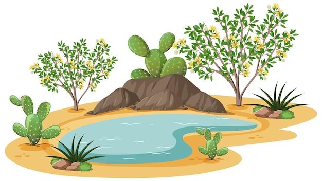 野生の砂漠のクレオソートブッシュ植物 無料ベクター