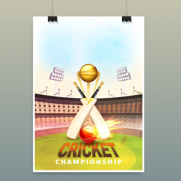 Cricket background. Premium Vector