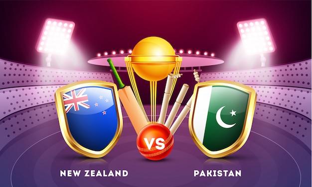 Cricket championship background. Premium Vector