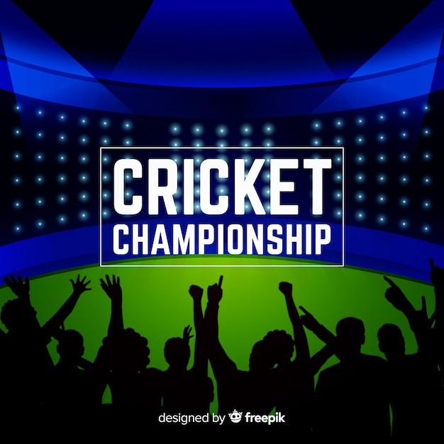 Cricket championship background Free Vector