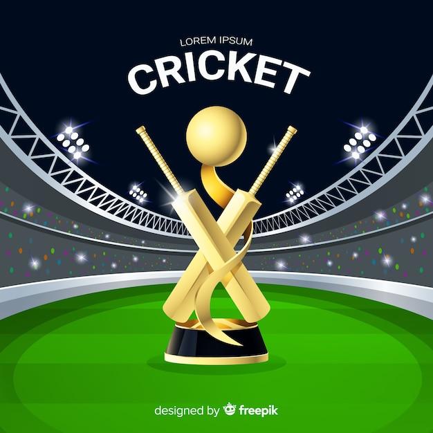 Cricket stadium background Free Vector
