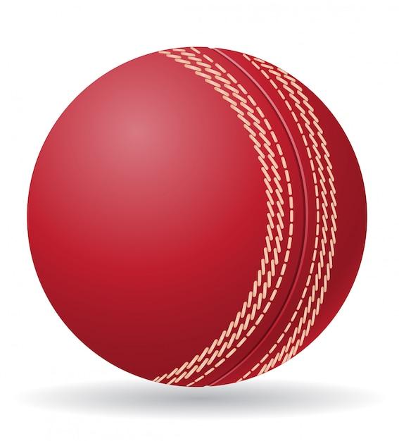 Criket ball vector illustration Premium Vector