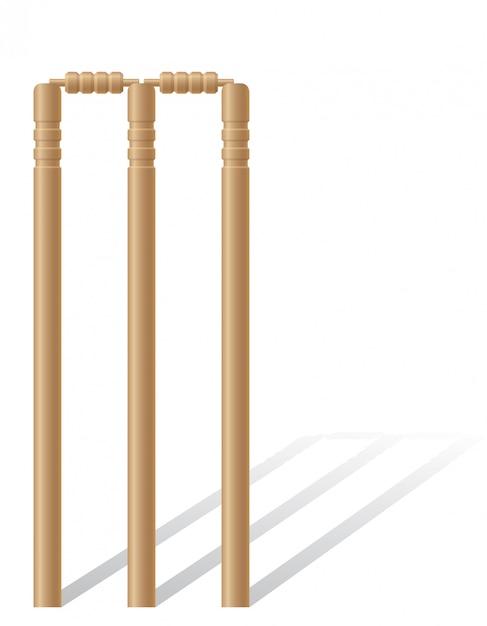 Criket wickets vector illustration Premium Vector