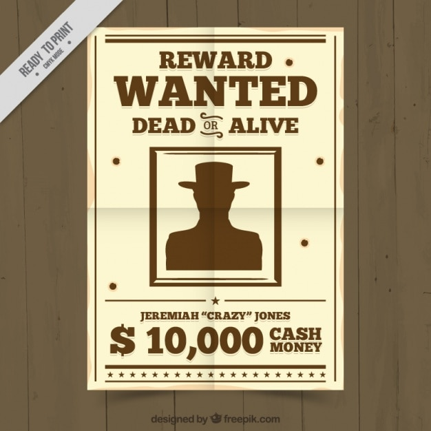 Criminal wanted poster Vector Free Download