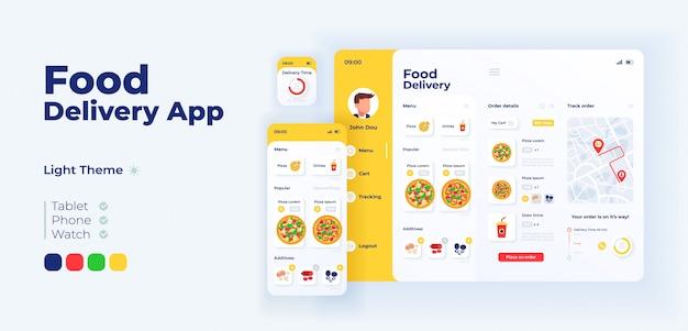 Crm marketing app screen  adaptive design template Premium Vector