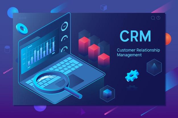 顧客関係管理crmのコンセプト Premiumベクター