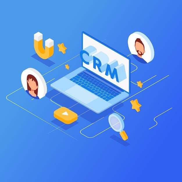 Crm等尺性ベクトル図 Premiumベクター