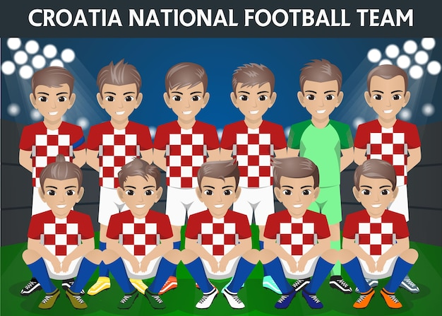Croatia national football team for international tournament Premium Vector 5c5f0f04e