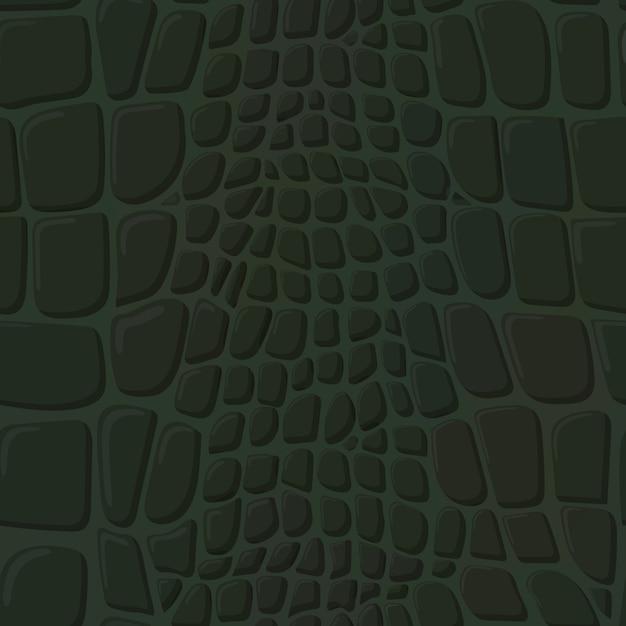 Crocodile skin texture. Premium Vector