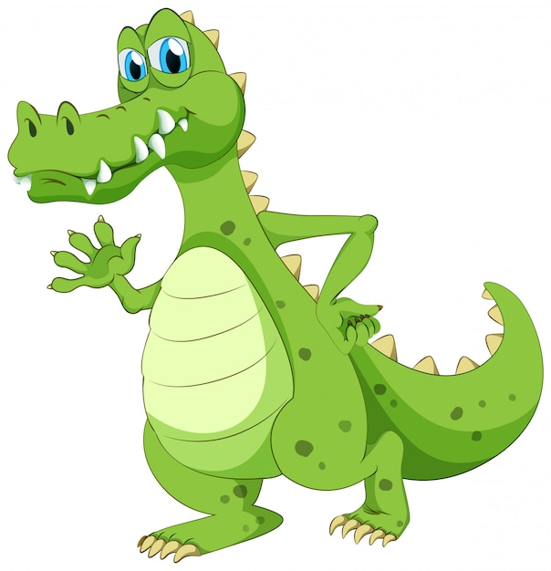 Crocodile waving hand Free Vector