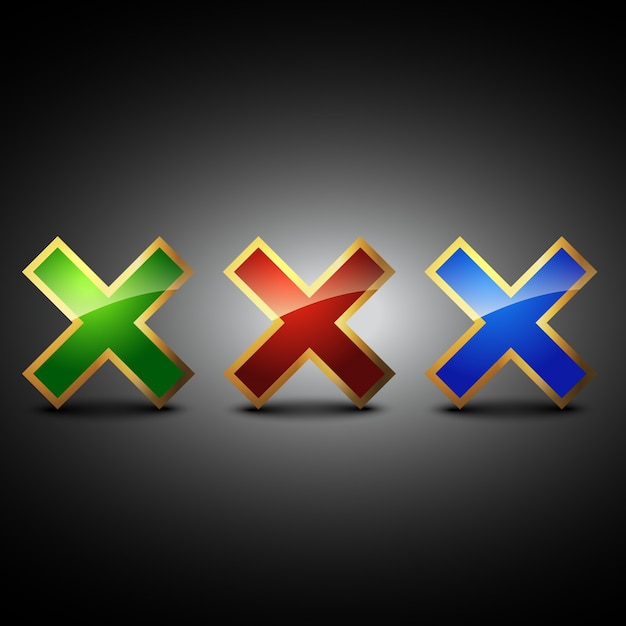 Cross symbol Premium Vector