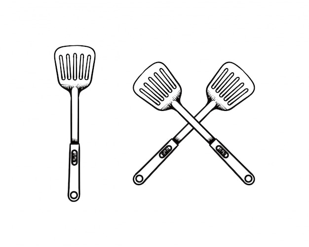 Image result for spatula drawing