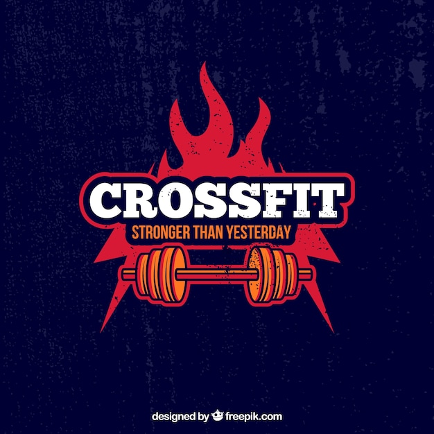 Crossfit background Free Vector