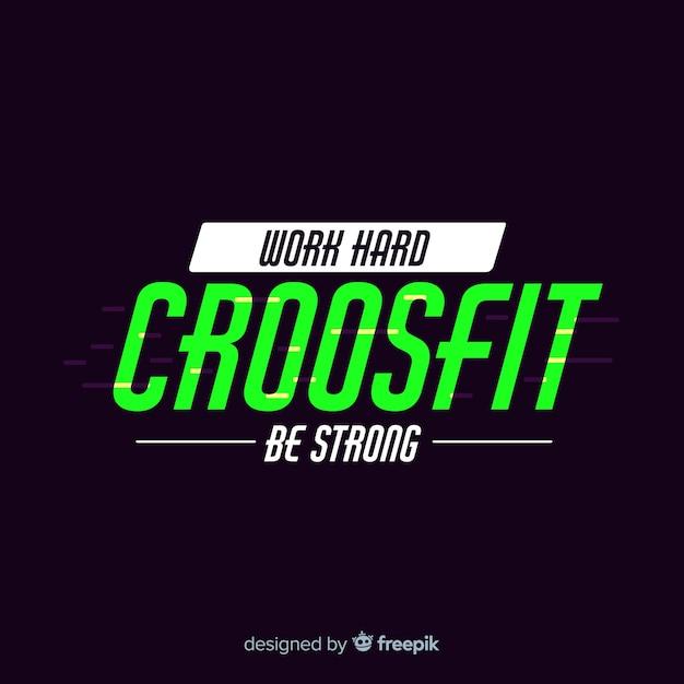 Crossfit Motivational Emblem Flat Style