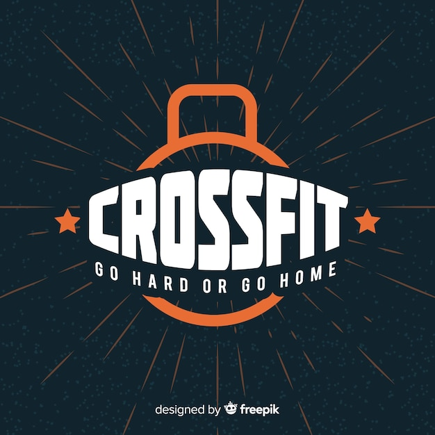 Crossfit motivational lettering: go hard or go home Free Vector