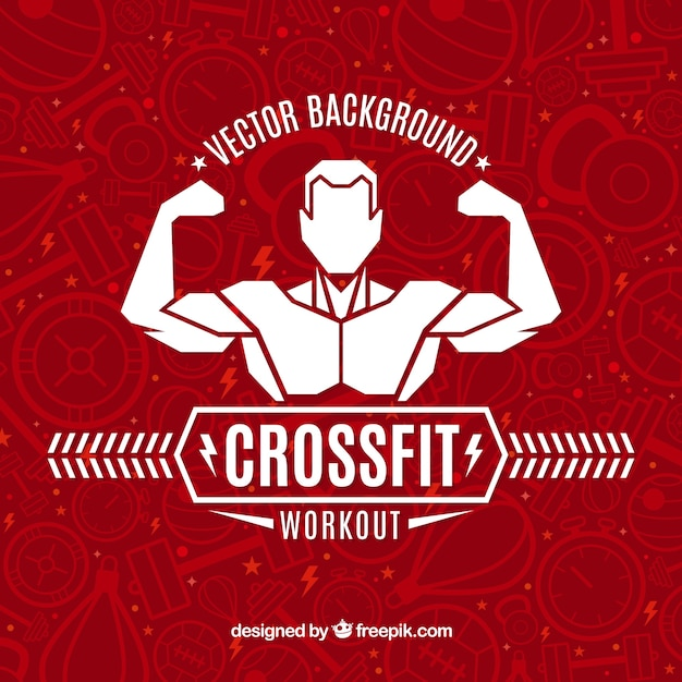 Crossfit vector background Free Vector