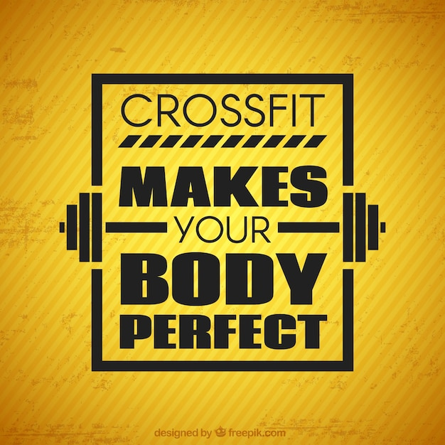 Download Vector Crossfit Quote With Brown Background Vectorpicker