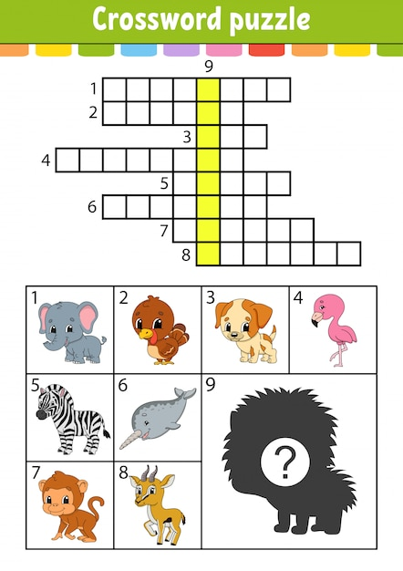 Crossword puzzle. Premium Vector