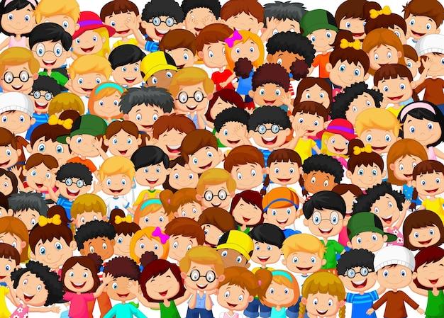 Crowd of children Premium Vector