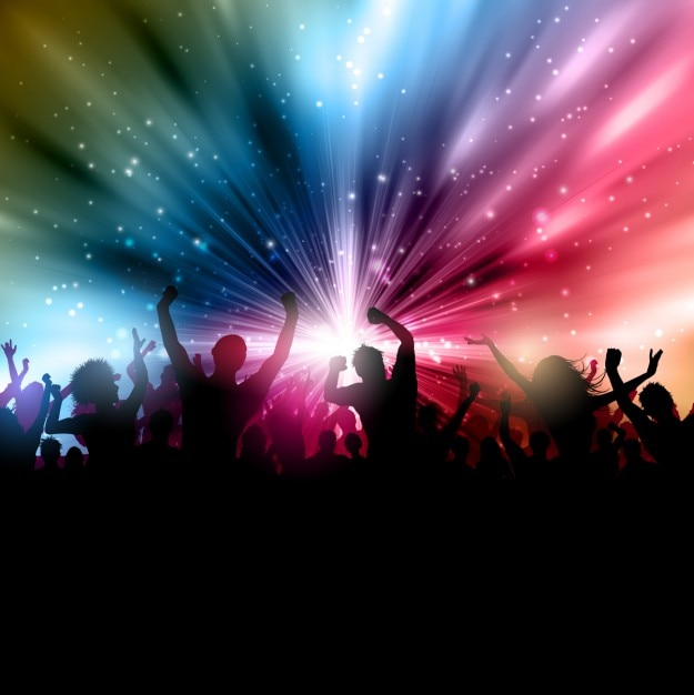 Crowded party background Free Vector