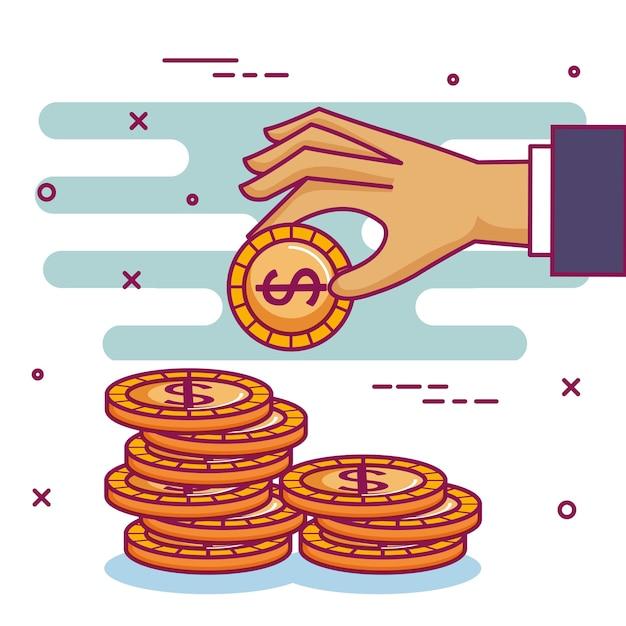 Crowdfunding спонсорский коллектив пожертвований Premium векторы