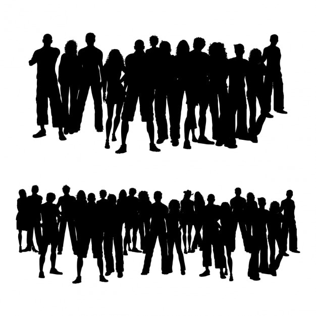 Crowds of people Free Vector