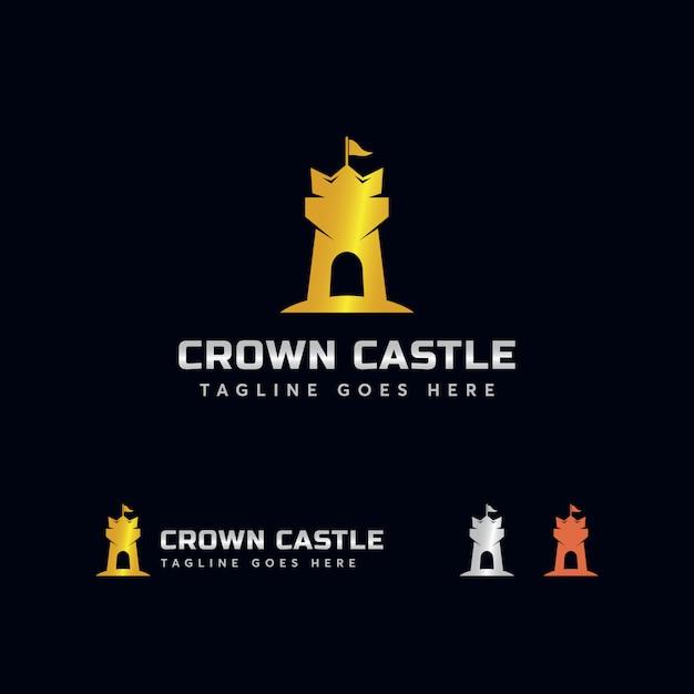 Crown castle logo template Premium Vector