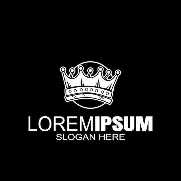 Crown creative logo Premium векторы