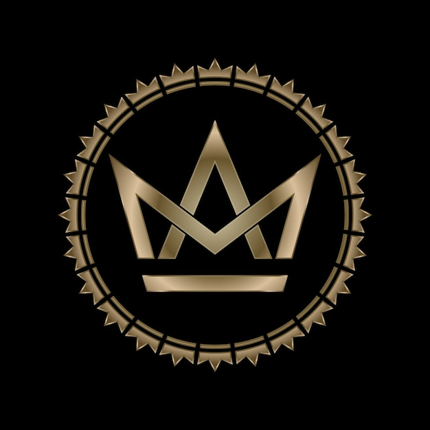 Crown letter m and a royal effect Premium Vector