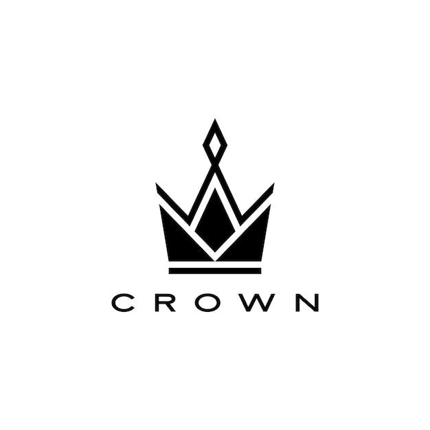 Корона логотип значок иллюстрации Premium векторы