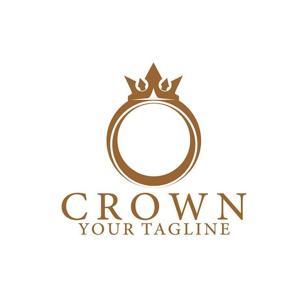 Crown logo Premium Vector
