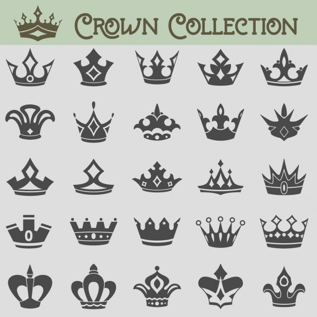Crowns icons  Free Vector
