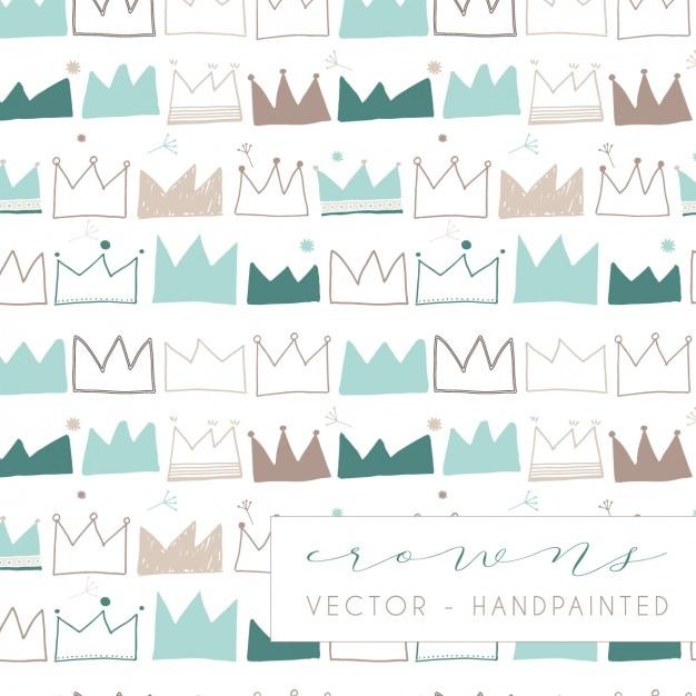 Crowns pattern design Free Vector