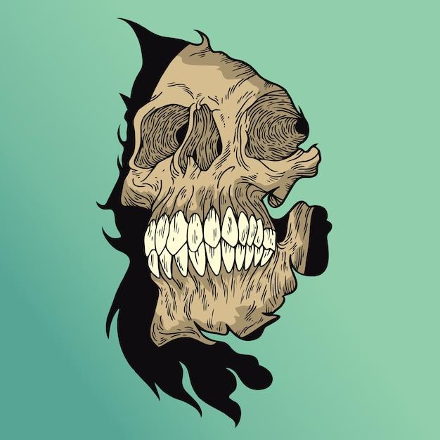Череп черепа Premium векторы