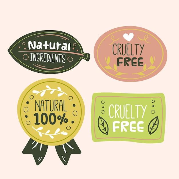 Set di badge cruelty free Vettore gratuito