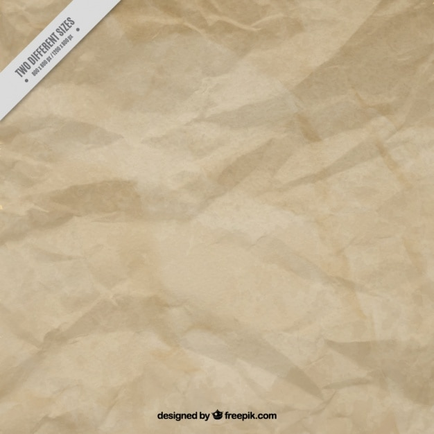 Crumpled brown paper background Vector | Free Download
