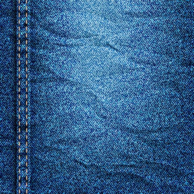 Crumpled denim texture Premium Vector