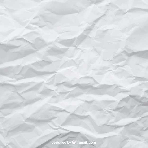 Crumpled white sheet background  Free Vector