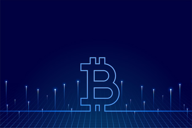 Crypto currency bitcoin technology background of virtual money Free Vector