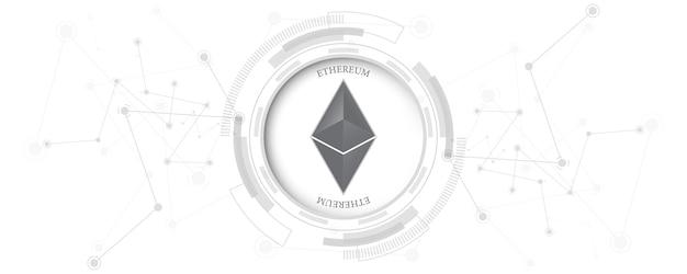 Ảnh eps Tiền điện tử blockchain ethereum tiền kỹ thuật số khái niệm công nghệ kết nối mạng Vector cao cấp