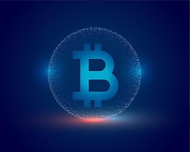 Концепция криптовалюты биткойн технологии фон Бесплатные векторы