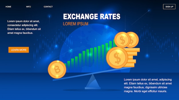 Cryptocurrency exchange rates for trader wallet Premium Vector