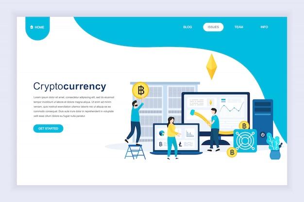 Cryptocurrency exchangeの現代フラットデザインコンセプト Premiumベクター