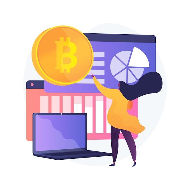 Иллюстрация абстрактной концепции криптовалютного рынка Бесплатные векторы