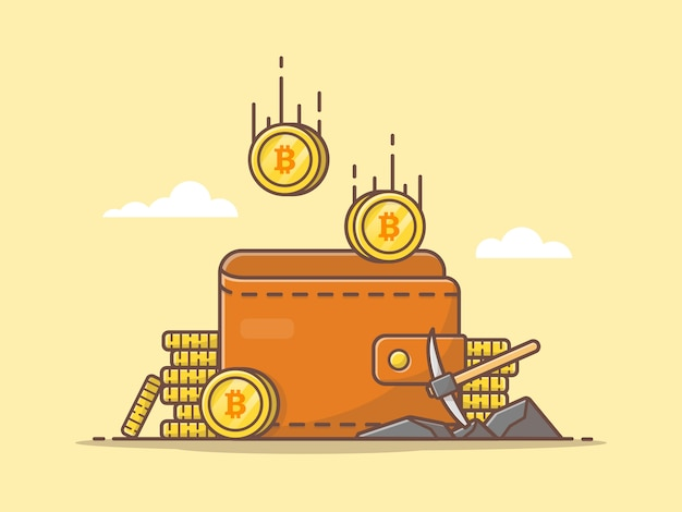 Cryptocurrency vector icon illustration Premium Vector