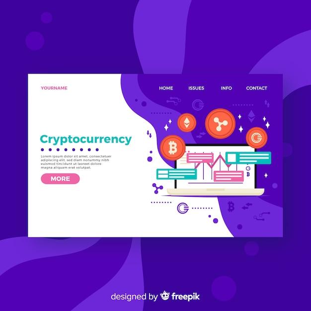 Целевая страница cryptocurrency Бесплатные векторы