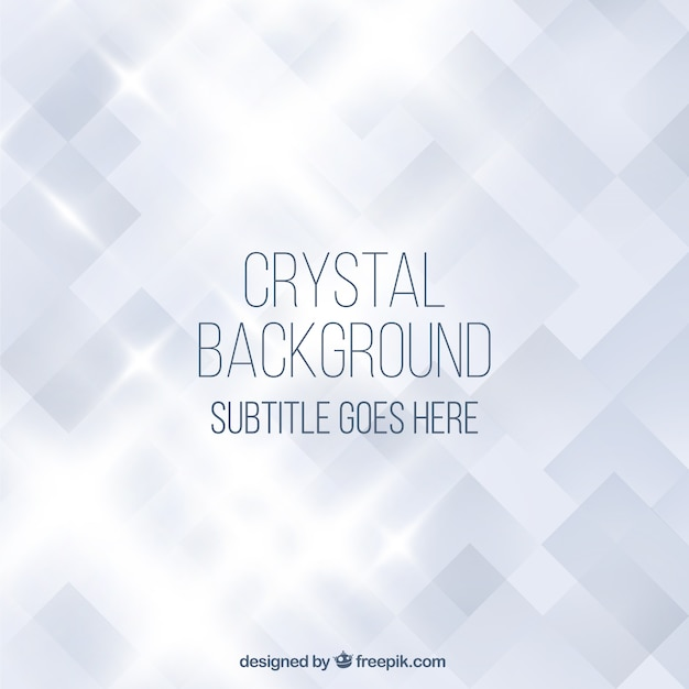Crystal background Premium Vector