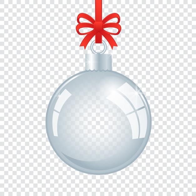 Хрустальный елочный шар Бесплатные векторы