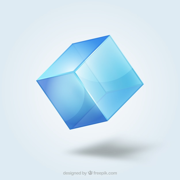 Crystal cube Free Vector