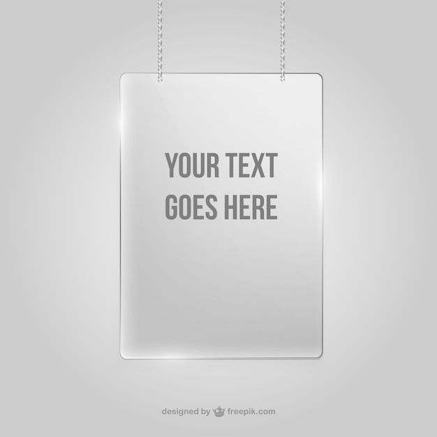 Crystal frame hanging on wall Vector | Free Download